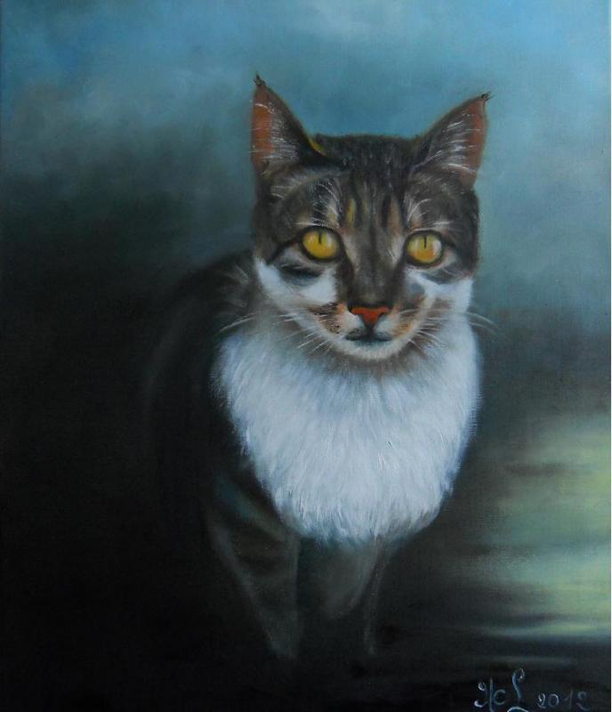 Le chat aux yeux d'or (VENDU)