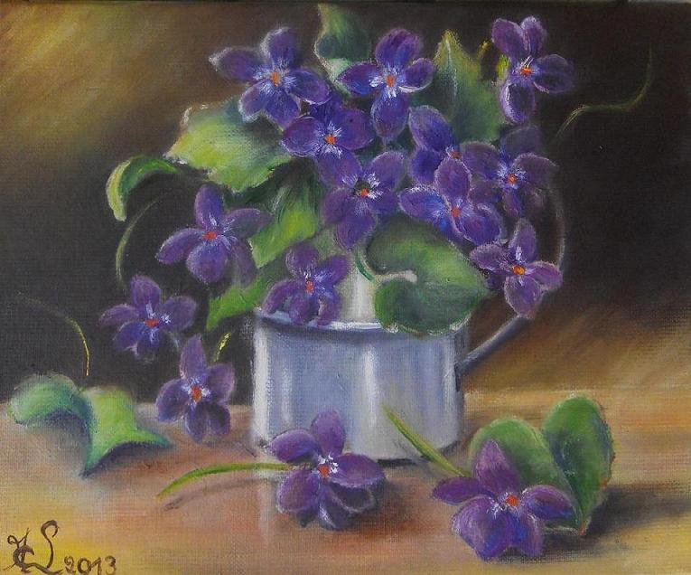 bouquet de violettes. Black Bedroom Furniture Sets. Home Design Ideas
