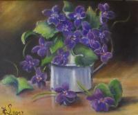 Bouquet de violettes (Collection privée)