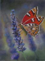 Brin de lavande et papillon (VENDU)