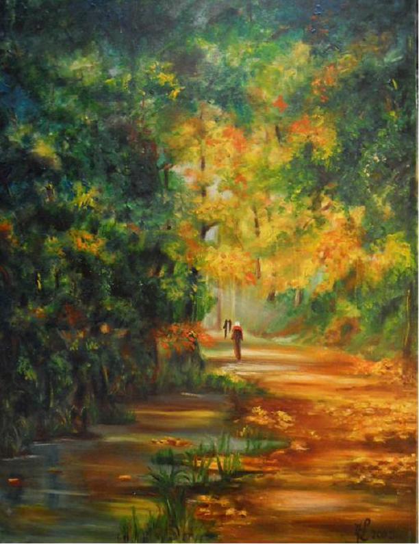 Chemin forestier en automne (VENDU)