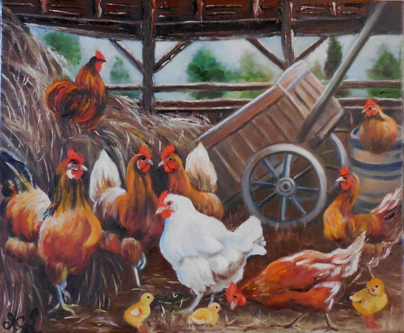 Dans la grange (VENDU)