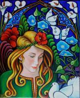 Demoiselle à la colombe