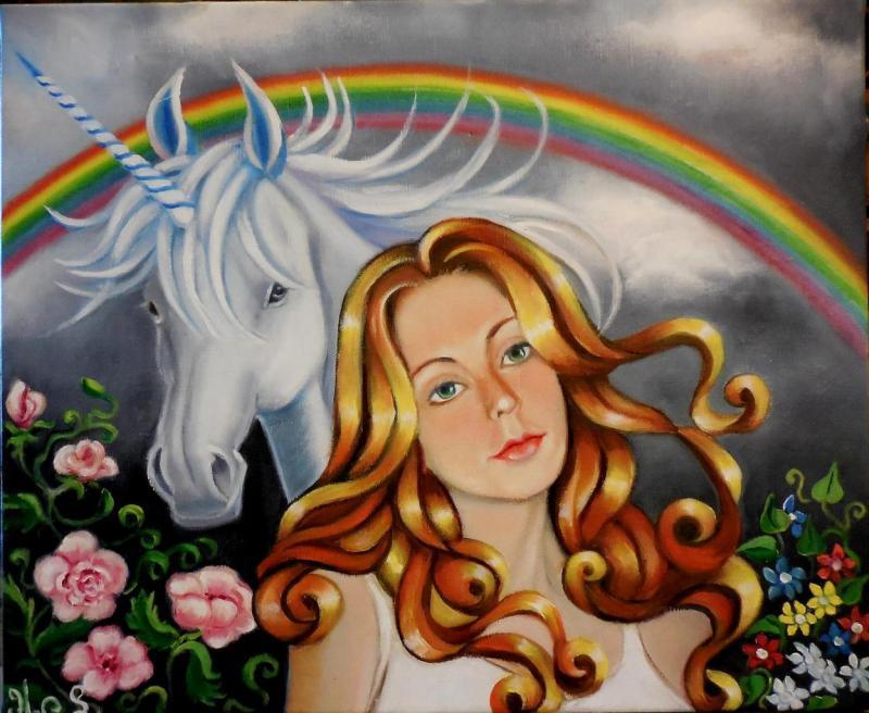 Demoiselle a la Licorne