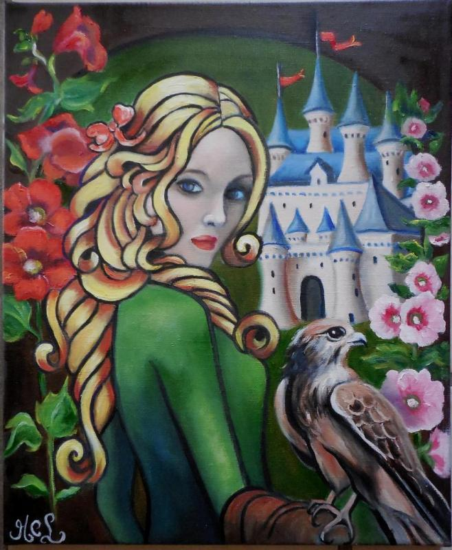 Demoiselle au faucon