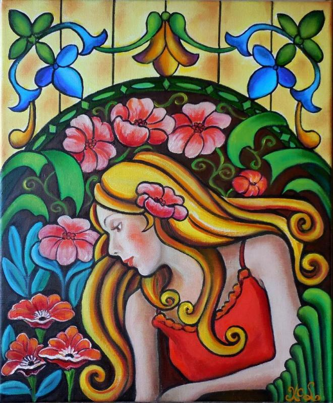 Demoiselle au jardin (Collection privée)