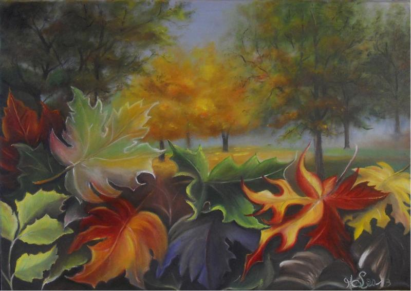 Feuilles d'automne (collection privée)