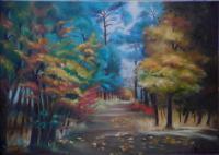 Forêt automnale (Collection privée)