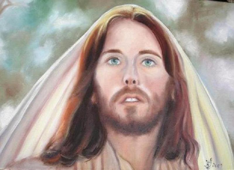 Jésus de Nazareth (d'après le film de Franco Zeffirelli) (collection privée)