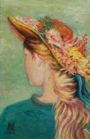 Jeune fille au chapeau fleuri (collection privée)