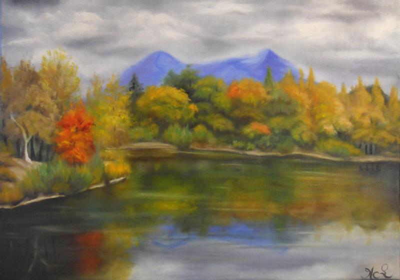 Jounée d'automne sur le lac de GAUBERT