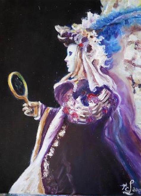 Carnaval de Venise : Masque au miroir