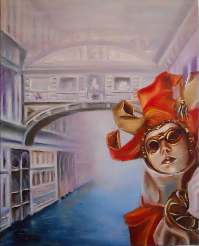 Carnaval de venise masque au pont des soupirs - Masque a peinture ...