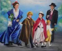 Parade en famille en Arles