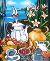 Petit déjeuner face a la mer