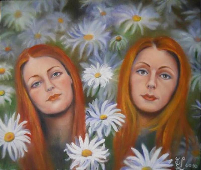 Portraits aux marguerites