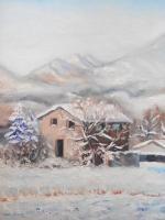 Ruine sous la neige